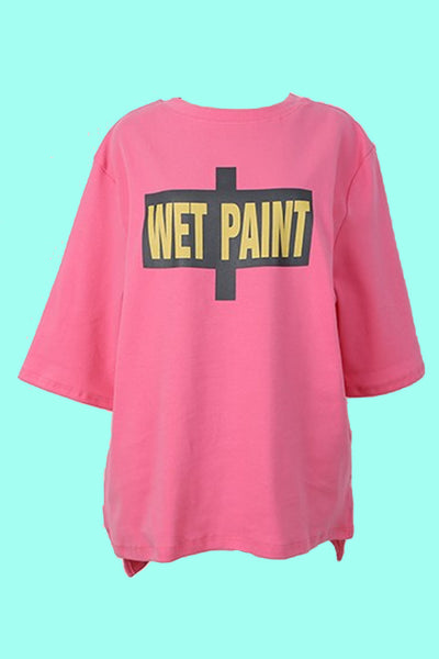 "Daba girl Pink ""Wet Paint"" Tee"