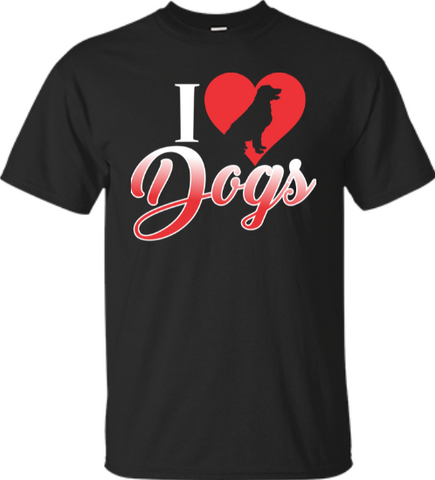 I Love Dogs T-Shirt Free Shipping