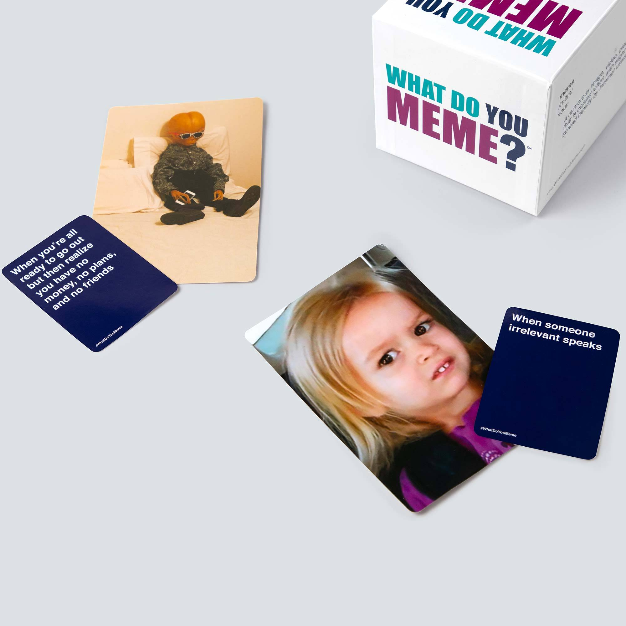 """image about What Do You Meme Printable referred to as What Do By yourself Memeâ""""¢ Occasion Video games for Older people Households What"""