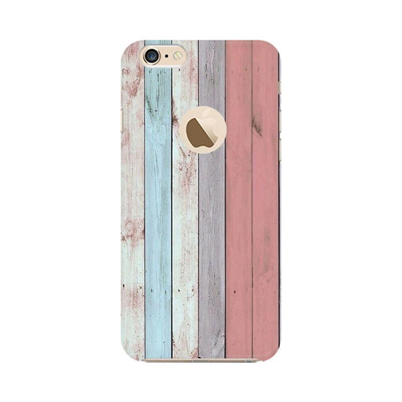 official photos 19311 ba23b Wooden Prined Back Cover For Apple iPhone 6 6s (Logo Cut)