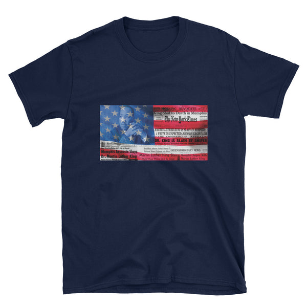 MLK US Flag Short-Sleeve Unisex T-Shirt