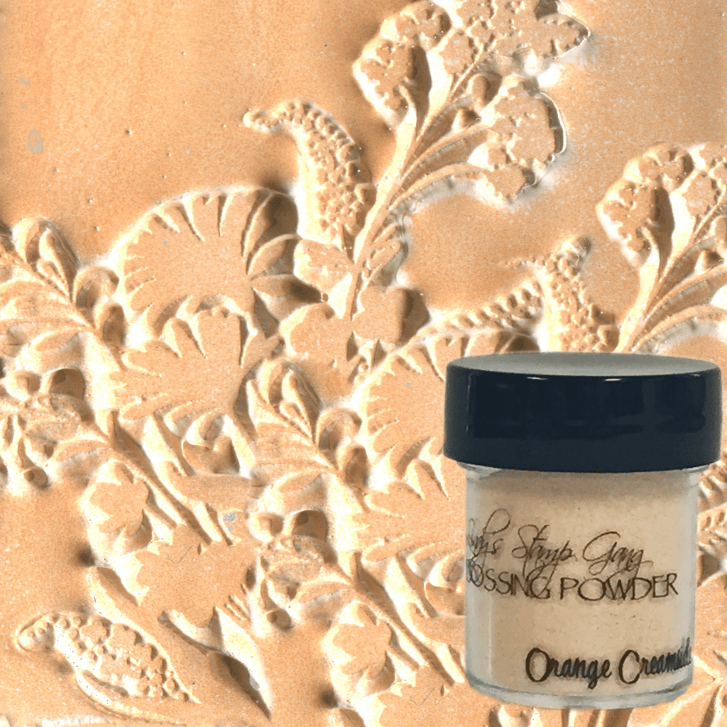 Orange Creamsicle Embossing Powder