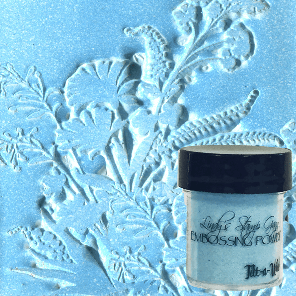 Tilt-A-Wheel Teal Embossing Powder