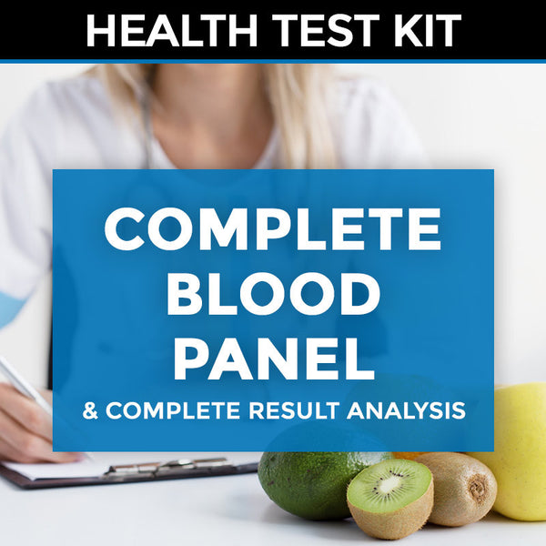 Blood Panel (complete blood workup) Test Kit + Complete Result Analysis & Consultation