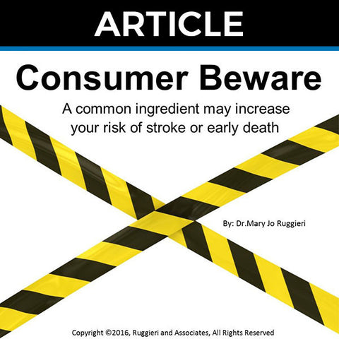 Consumer Beware by Dr. Mary Jo Ruggieri