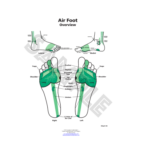 ER Air Foot Chart by Dr. Mary Jo Ruggieri