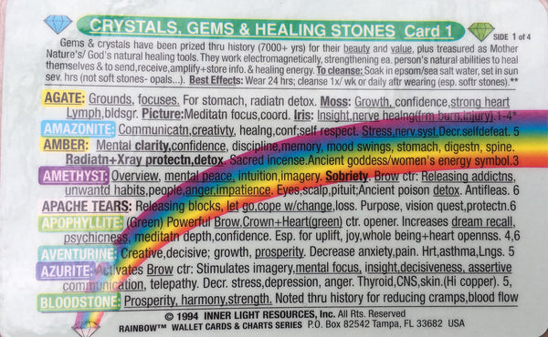 Crystals, Gems, & healing Stones Card #2 of 3