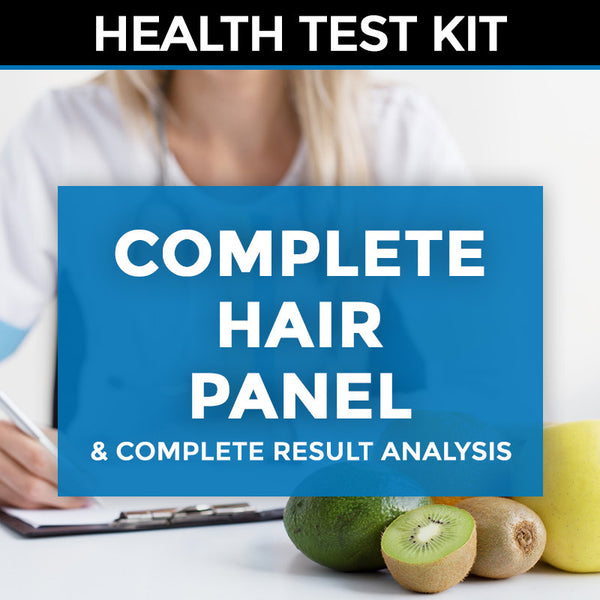 Hair (mineral imbalance and heavy metals) Test Kit + Complete Result Analysis & Consultation