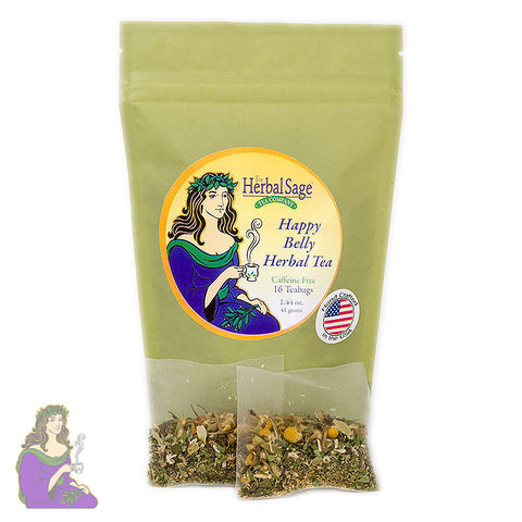 Herbal Sage: Happy Belly Tea in Teabags