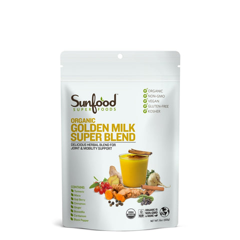 Sunfood Superfoods Golden Milk Super Blend, 6oz, Organic