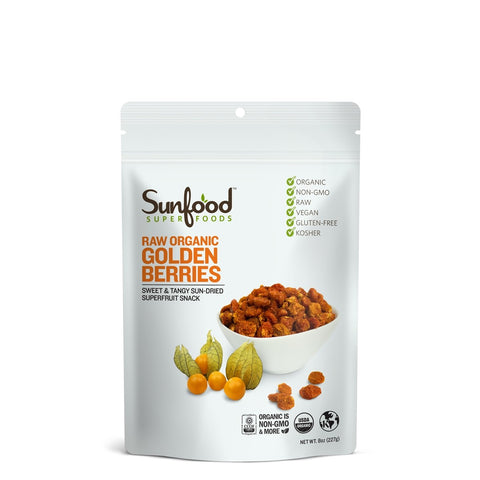 Sunfood Superfoods Golden Berries, 8oz, Organic, Raw