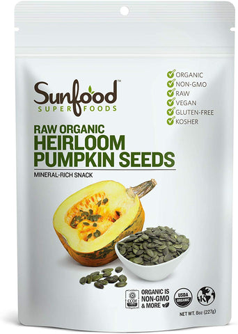 Sunfood Superfoods Raw Organic Heirloom Pumpkin Seeds