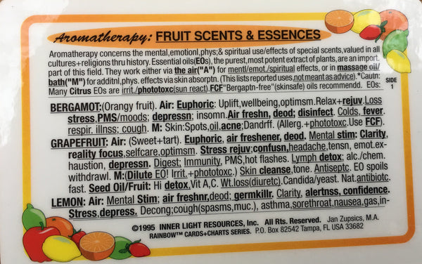 Aromatherapy: Fruits Scents & Essences Card #1 set of 3