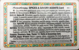 Aromatherapy: Spices & Savory Scents Card #1 of 3 set