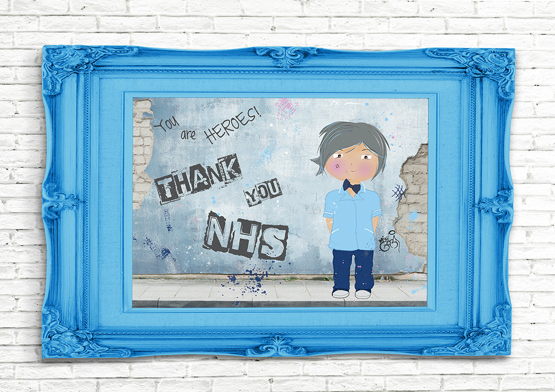 Art Print Mini Gabi Thank You NHS