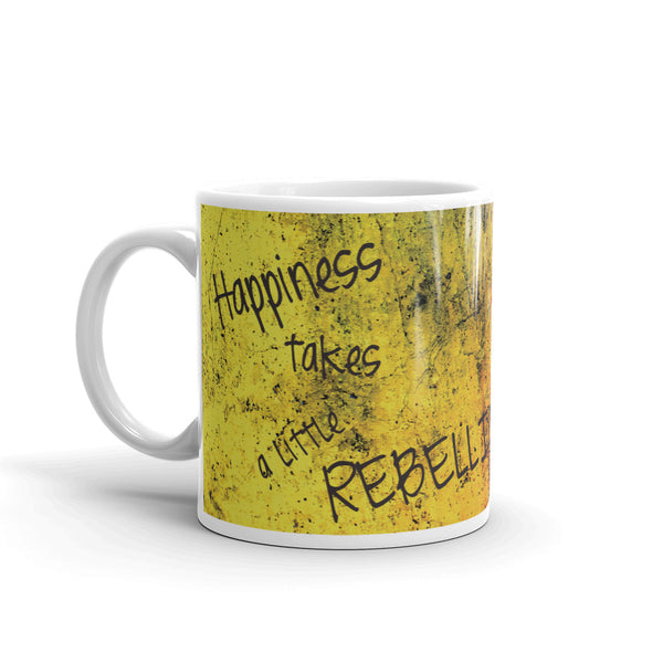 Mini Gabi Mug, Happiness Takes A Little Rebellion