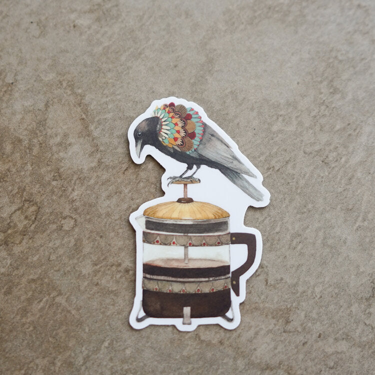 Sticker - Coffee Crow