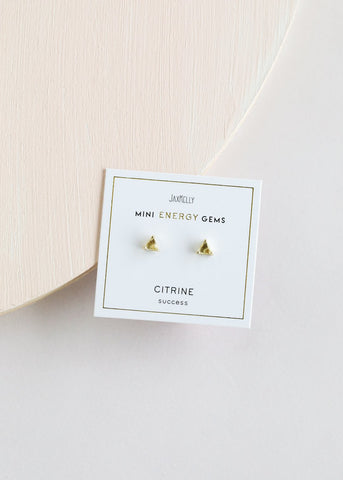 Earrings Citrine Mini Energy Gems