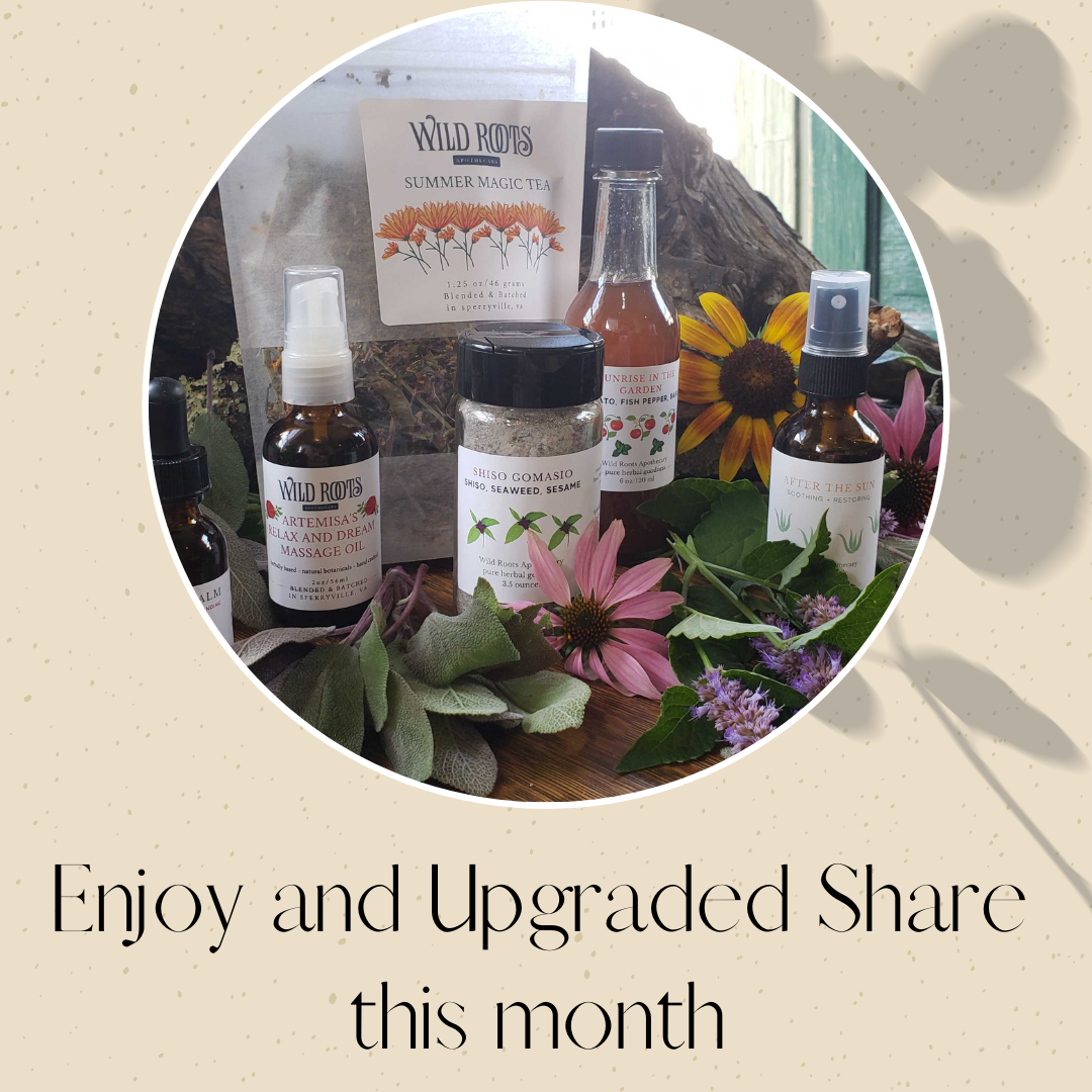 Upgrade your SELF CARE Community Supported Herbalism