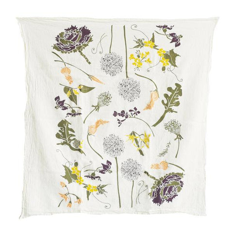 Flowering Veggies Kitchen Towel