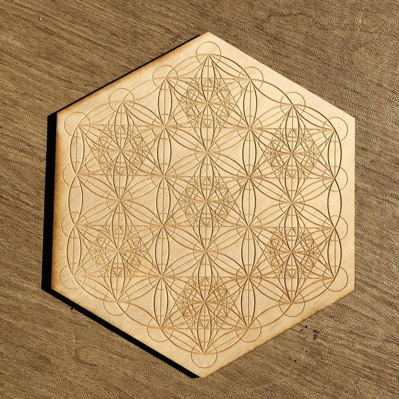 Metatron's Cube Seed of Life Crystal Grid