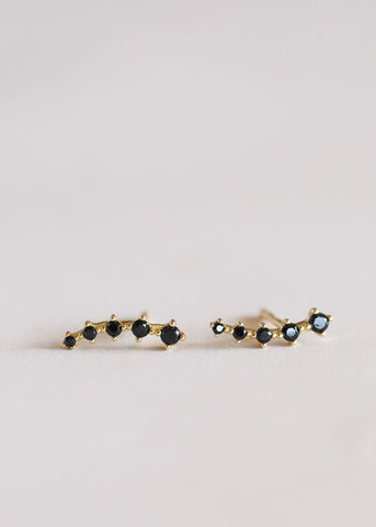 Image of JaxKelly Earrings Crystal Crawler- Black