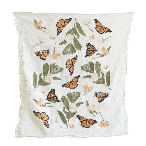 Monarchs And Milkweed Kitchen Towel