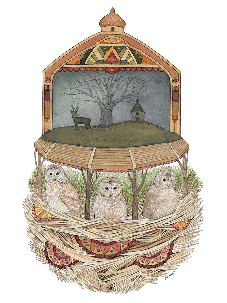 The Owls Convened - 8x10 Print