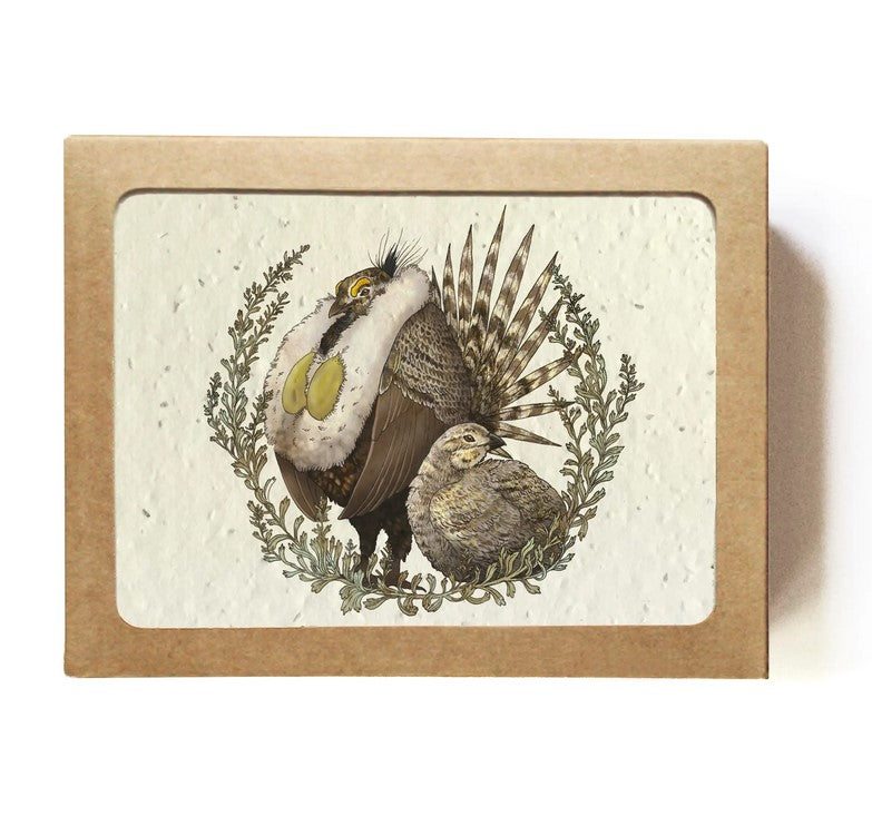 The Bower Studio - Set of 8 Animal & Plant Greeting Cards - Plantable Seed Paper