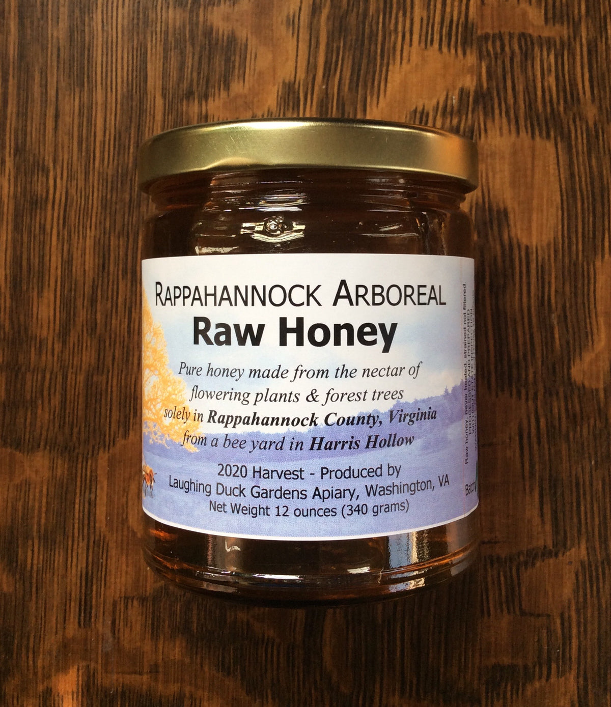 Rappahannock Arboreal Raw Honey by Laughing Duck Gardens Apiary