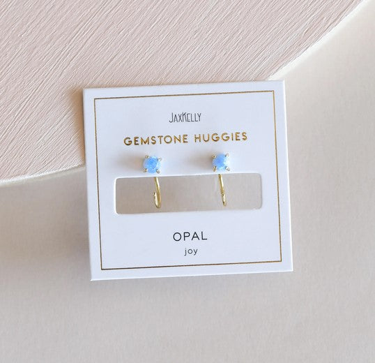 JaxKelly - Opal Huggies Earrings