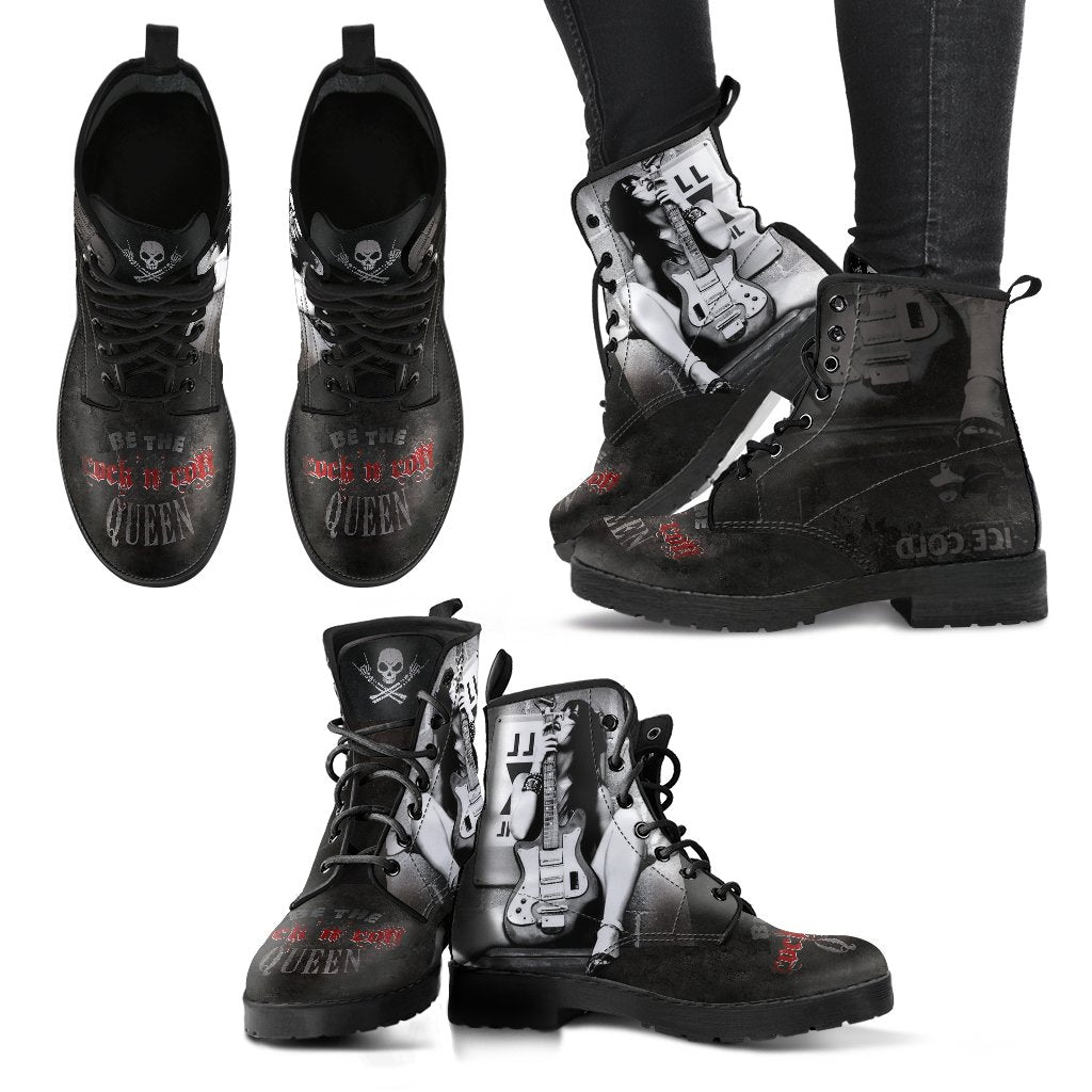 Fashion week Roll n Rock style: women motorcycle boots for lady