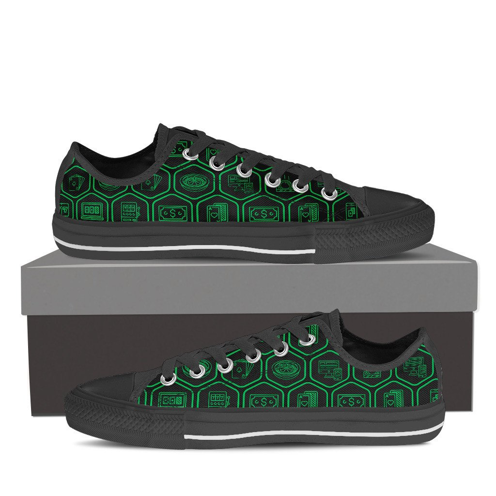 Men's Casino Games Hexagon Design Shoes