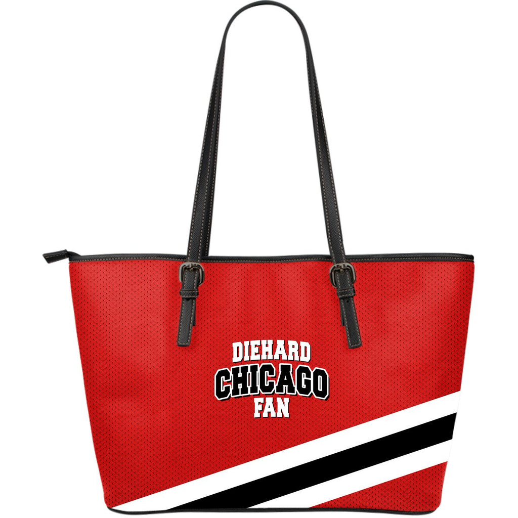 Die Hard Chicago Fan Large Leather Tote Bag