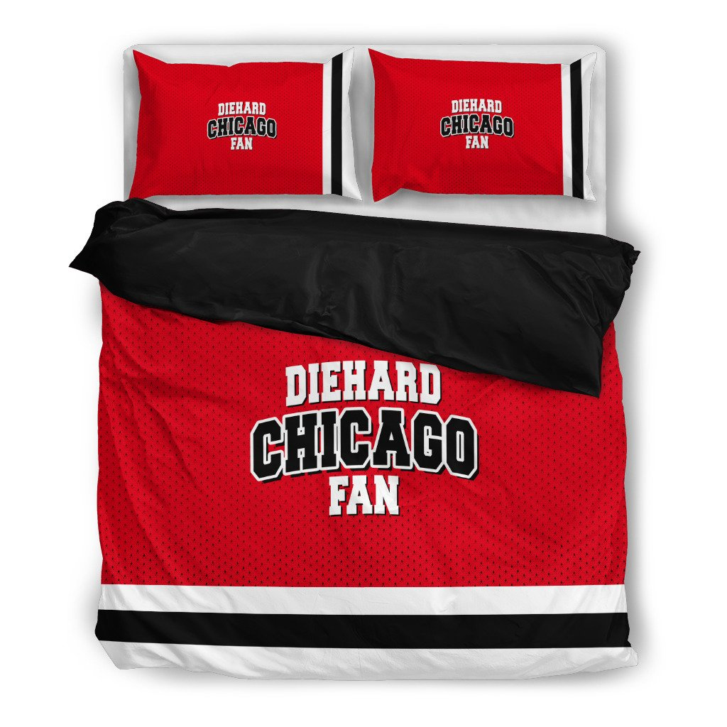 Die Hard Chicago Fan 3 Piece Bedding Set