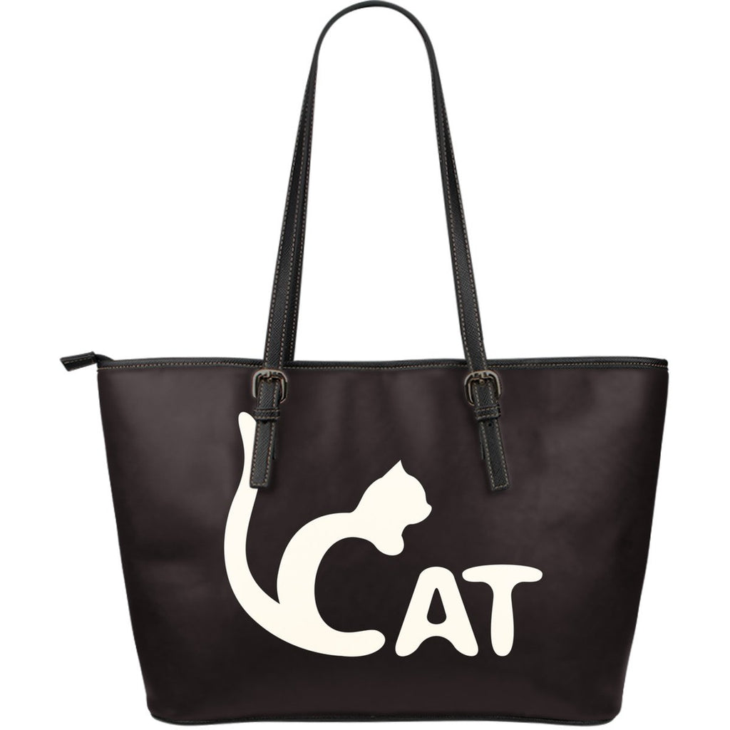 Cat Print Large Leather Tote - Gear Stop Shop