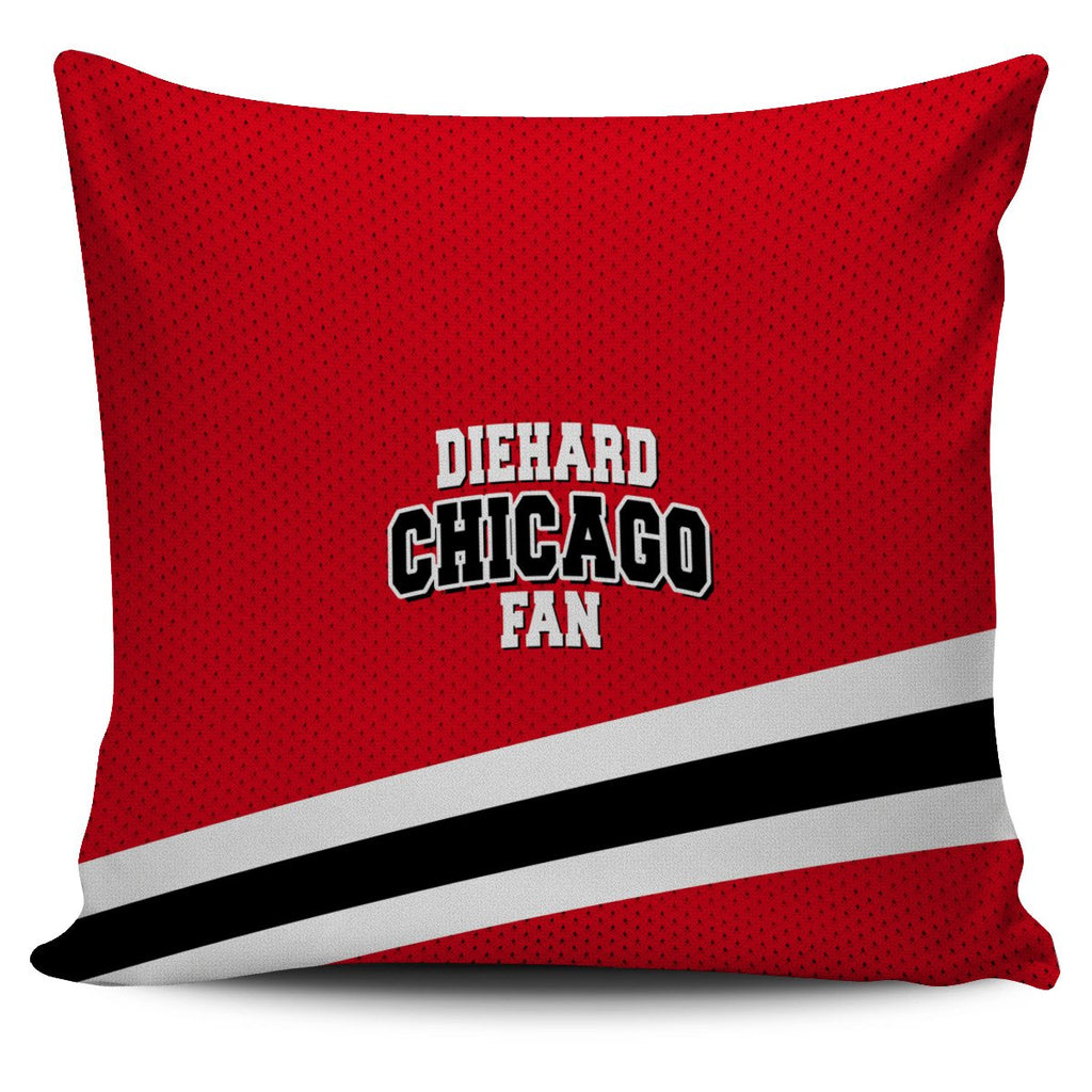 Die Hard Chicago Fan Pillow Case