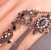 Carved Flowers Vintage Dual Ring - Gear Stop Shop