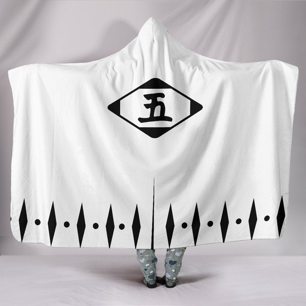 Bleach Captain Class Shinigami Hooded Blanket Five - Gear Stop Shop