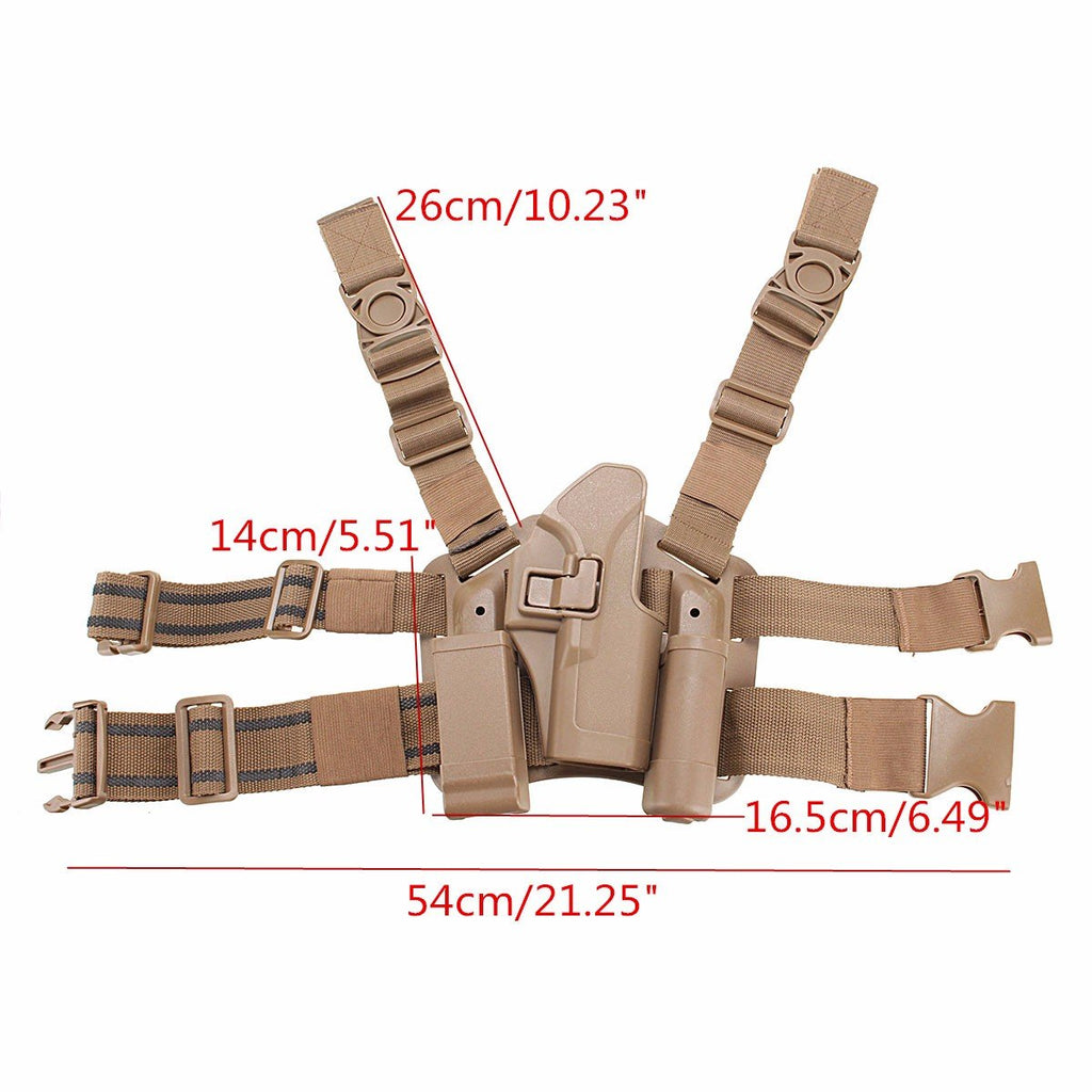 Right Leg Thigh Holster w/ Magazine Torch Pouch
