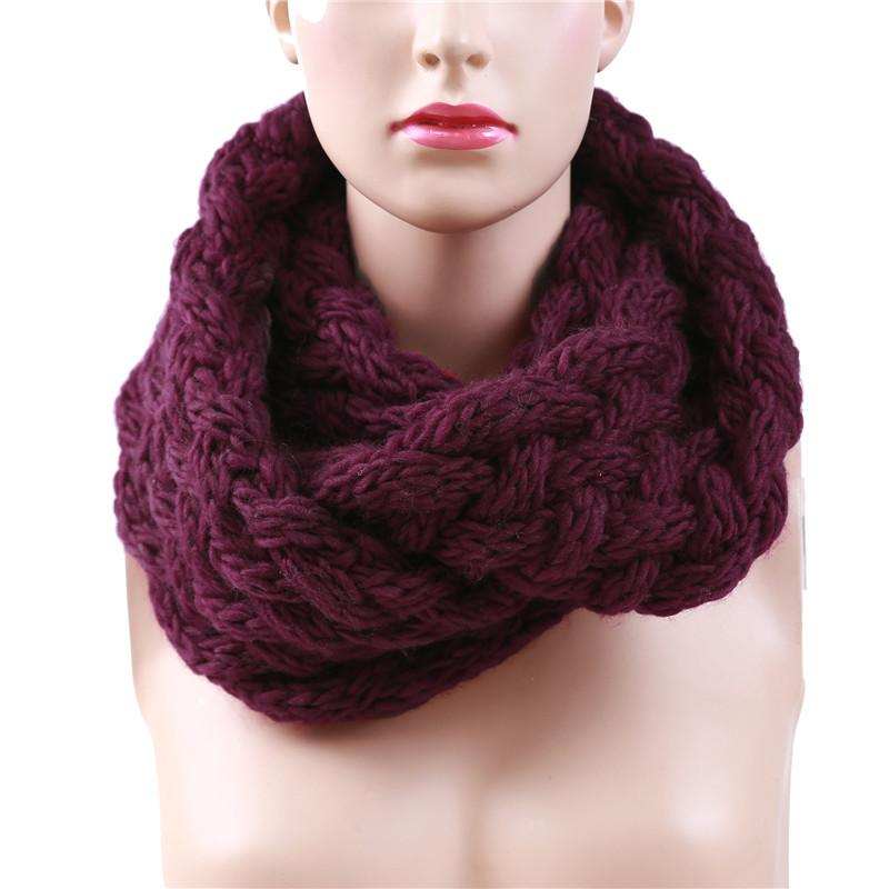 Knitted Winter Warm Neck Ring Scarf