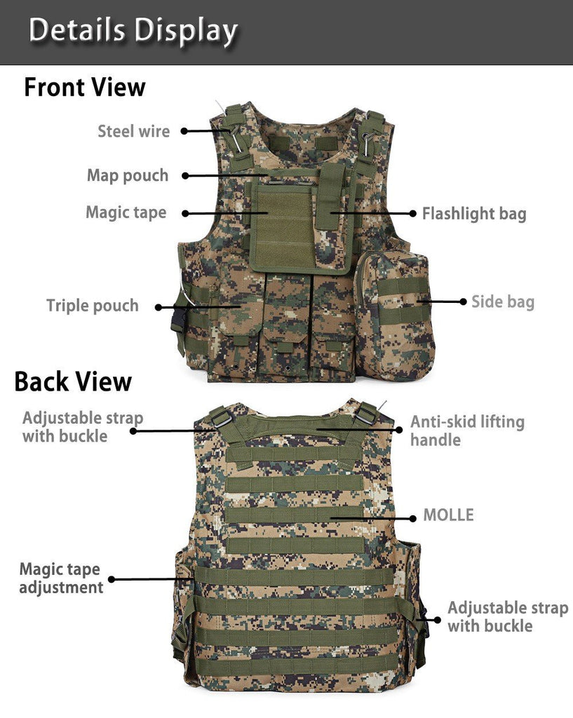 Tactical Body Molle Armour Vest 1