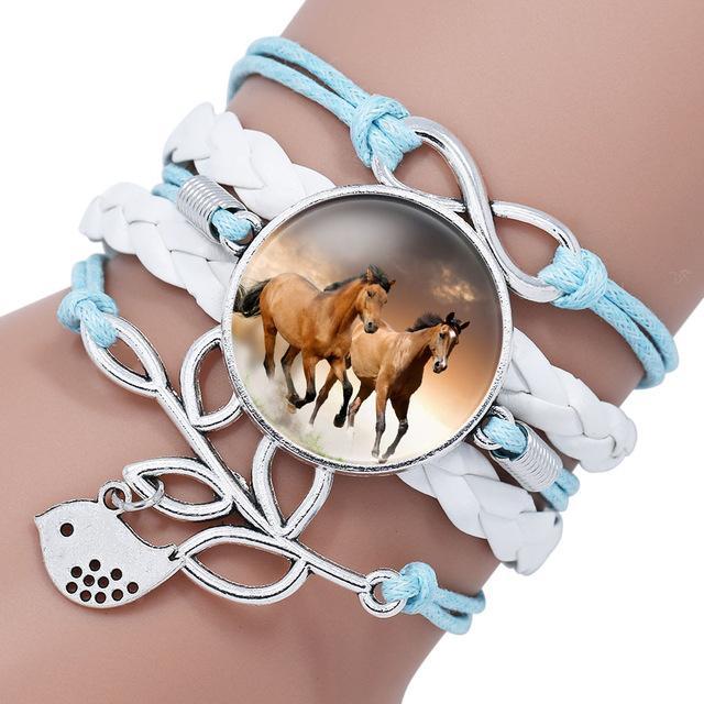 Trendy Rope Bracelet Horse Design