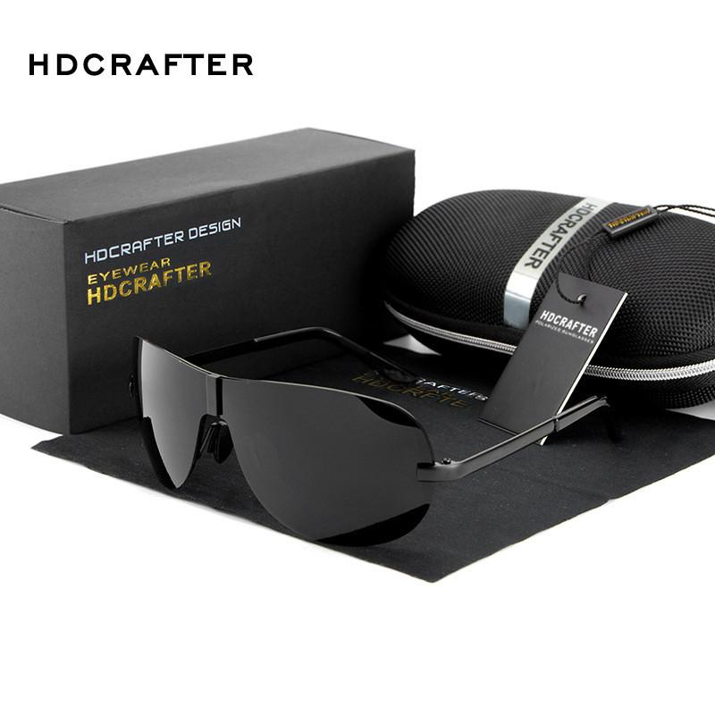 HDCRAFTER Polarized Rimless Sunglasses