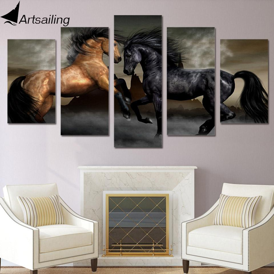 5 piece HD Canvas Living Room Art - Gear Stop Shop