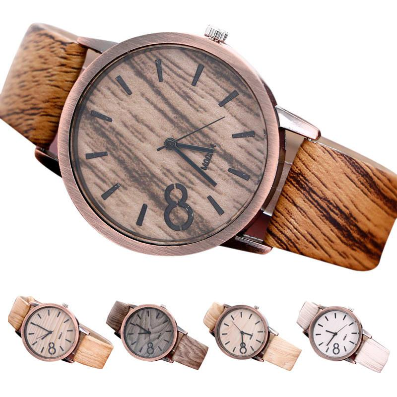 Vintage Retro Wood Grain Quartz Watch Offer