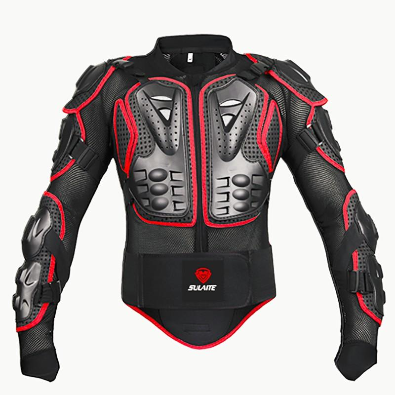 Black/RED Motorcycle Armor - Gear Stop Shop