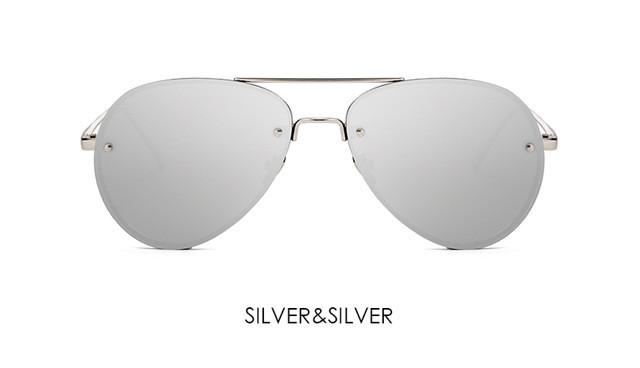 Oversized Unisex Rimless Sun Glasses