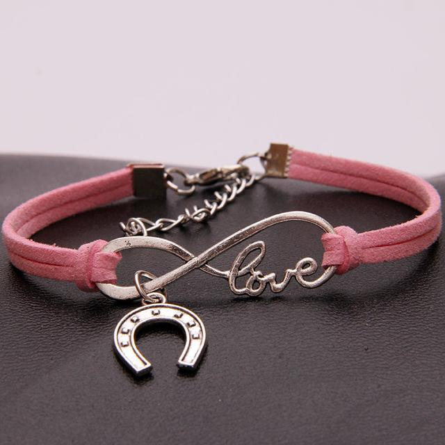 Infinity Love Horse Shoes Bracelet