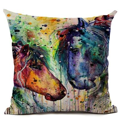Colorful Oil Painting Horse Decorative Pillow - Gear Stop Shop